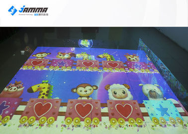 3D AR Interactive Floor Projection Game For Amusement , Advertising , Exhibition