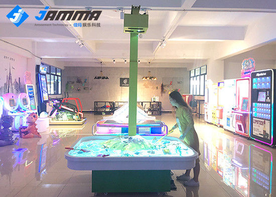 AR Magic Sand Floor Projector Games , 1.8x1.4x0.6m Floor Projection System