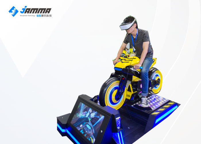 1500W One Player High Speed VR Motorcycle Simulator For Amusement Park