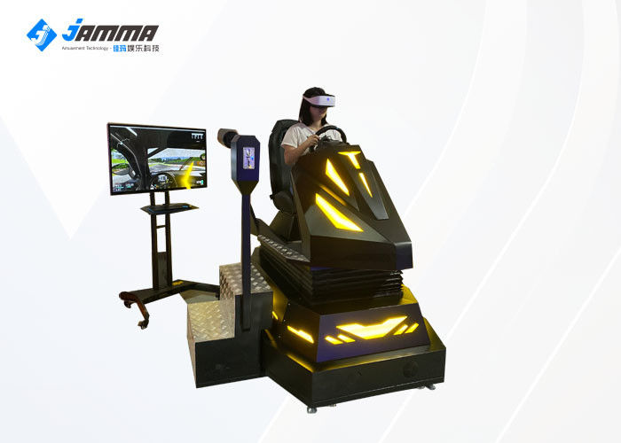 3 Dof Electronic System 9D VR Car Simulator For Shopping Mall Black Colour
