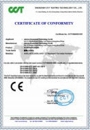 China JAMMA AMUSEMENT TECHNOLOGY CO., LTD Certificaciones